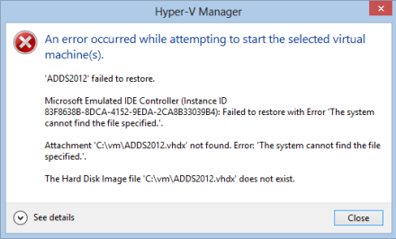 Hyper-V, fixing moved VHD files – FoxDeploy com