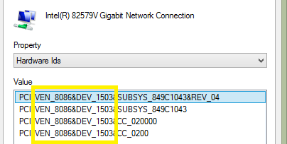 Hacking an Intel network card to work on Server 2012 R2 (3/6)