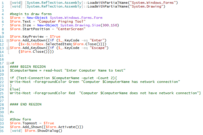 Creating a GUI Natively for your PowerShell tools using .NET methods (2/6)