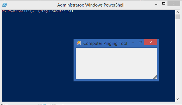 Creating a GUI Natively for your PowerShell tools using