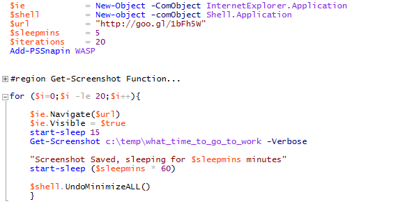 It is pretty succinct when you omit other people's code...