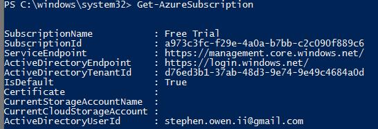 Azure Powershell - Current Storage Account error when making a new VM (1/5)