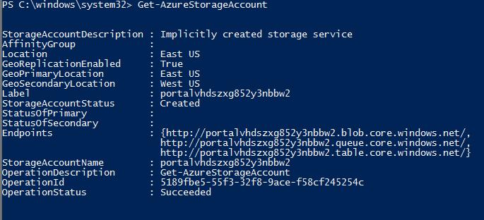 Azure Powershell - Current Storage Account error when making a new VM (2/5)