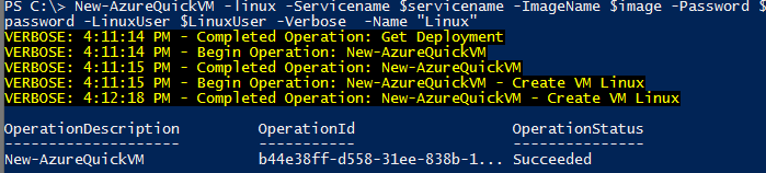 Azure Powershell - Current Storage Account error when making a new VM (4/5)