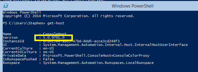 PowerShell Version 5, What's new! (1/5)