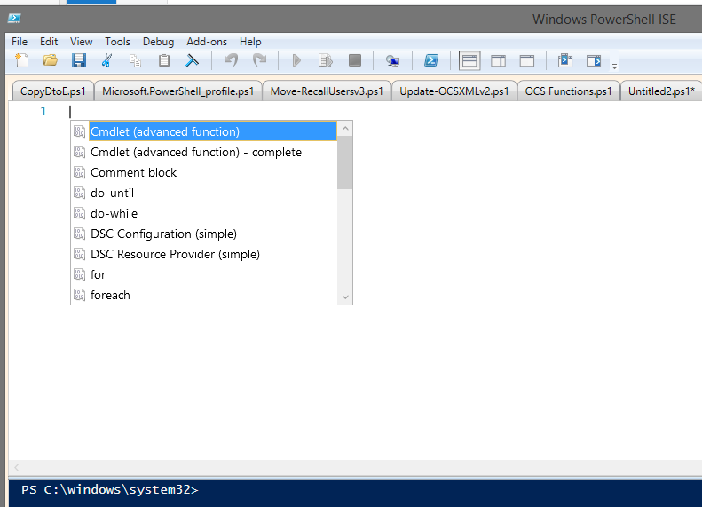 Useful PowerShell ISE Snippets – FoxDeploy com
