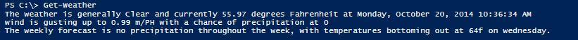 Get the daily forecast in your console, with PowerShell (1/4)