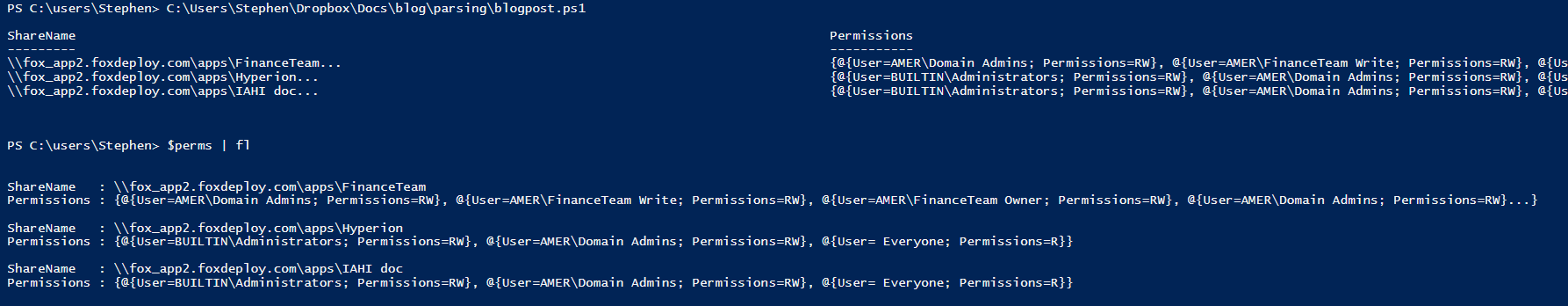 Walkthrough – Parsing log or console output with PowerShell