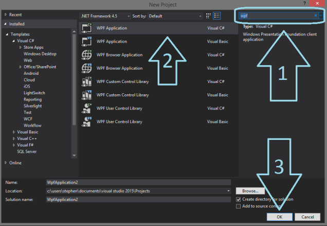 how to make gui with visual studio c++