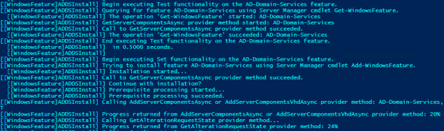 Checking to see if Active Directory Domain Services is installed