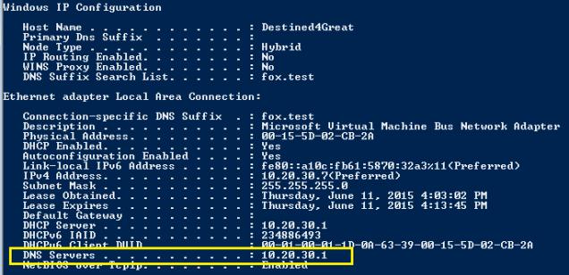 DNS server came alone