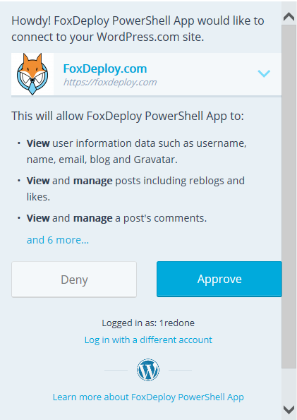 Using PowerShell and oAuth – FoxDeploy com