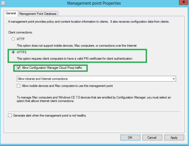 6.2 configure MP for cloud proxy