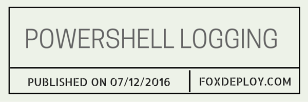 Powershell logging