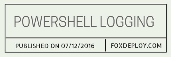 Powershell logging